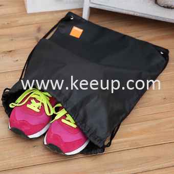 Promotional polyester drawstring bag for shoe