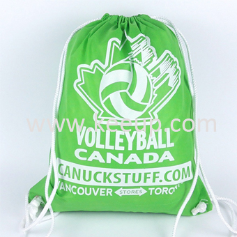 Reusable silk screen logo printing Polyester Drawstring bag