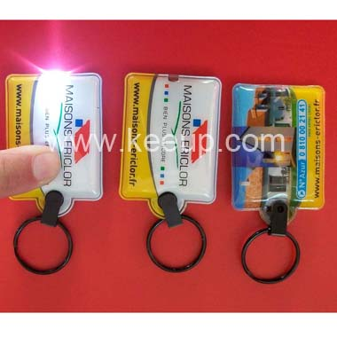 Hot Sell Led Torch Light PVC Keychains