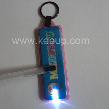 PVC LED Light Key Chain Promotional Gift