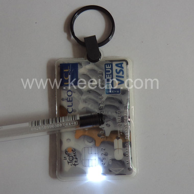 Various Shape PVC Keychain With Led Light