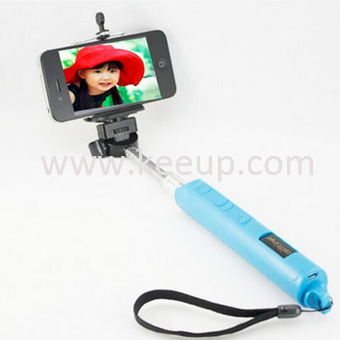 Adjustable Wireless bluetooth selfie stick with Zoom