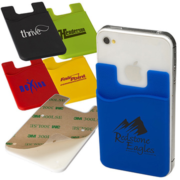 Promotional Silicone Smart Card Wallet with 3M Sticky