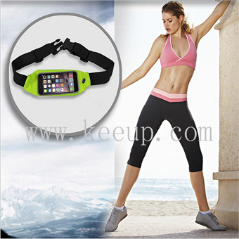 Waterproof sports mobile phone waist bag for promotional items