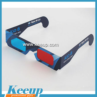 Custom Paper Anaglyph 3D Glasses for promotion