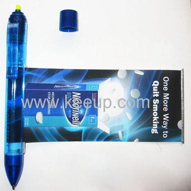 Multifunction Banner Pen with Highlighter