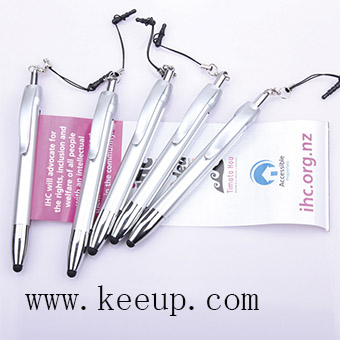 Custom metal touch screen banner pen for promotional gifts