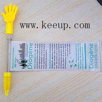 Wholesale custom palm banner pen with logo branding