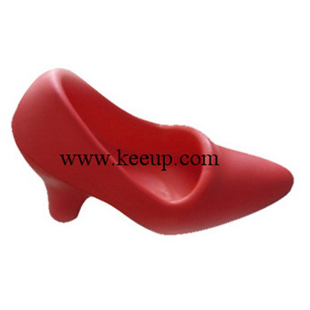 red high-heel shoes stress PU reliever for ad