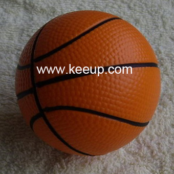 cheap giveways 6.3cm PU stress basketball