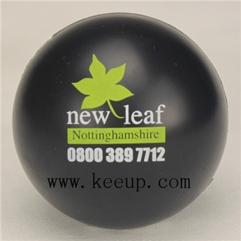 black stress ball with  custom logo wholesale from China