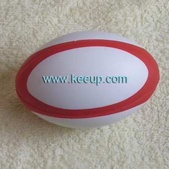 Customized Anti Stress Rugby Balls PU Stress Reliever